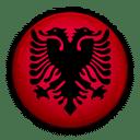 Flagge von Albanien zur Kennzeichnung der Service Sprache.