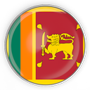 Sri Lanka Flagge in runder Form